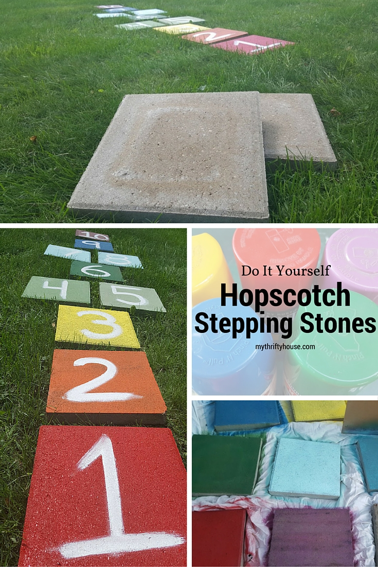 Hopscotch stepping stones pinterest collage