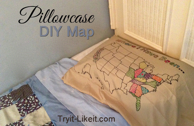 Travel Pillow with US Map