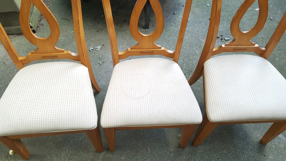 Chairs for the chair bench before the makeover