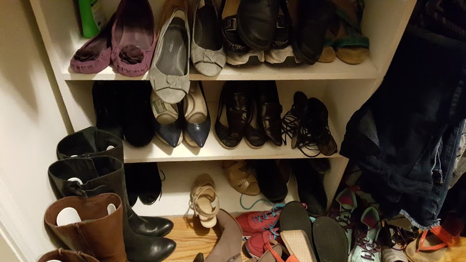 master-bedroom-closet-makeover-preview-messy-shoe-organization