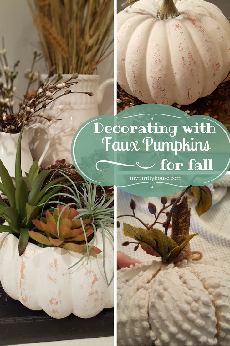 decorating-with-faux-pumpkins-for-fall-with-my-thrifty-house