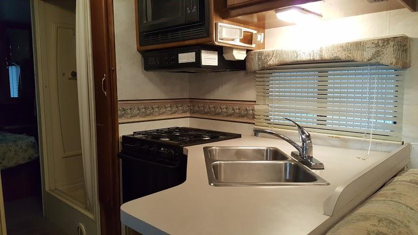 My Thrifty Glamper kitchen