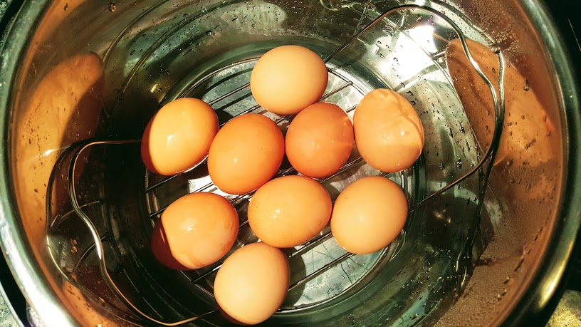 How to make perfectly peeled hard boiled eggs in the Instant Pot.