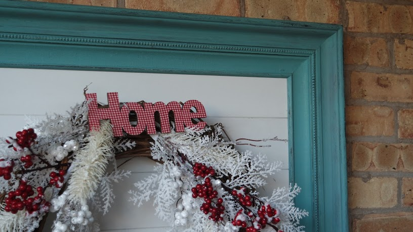 Quick and Easy Winter Wreath from My Thrifty House