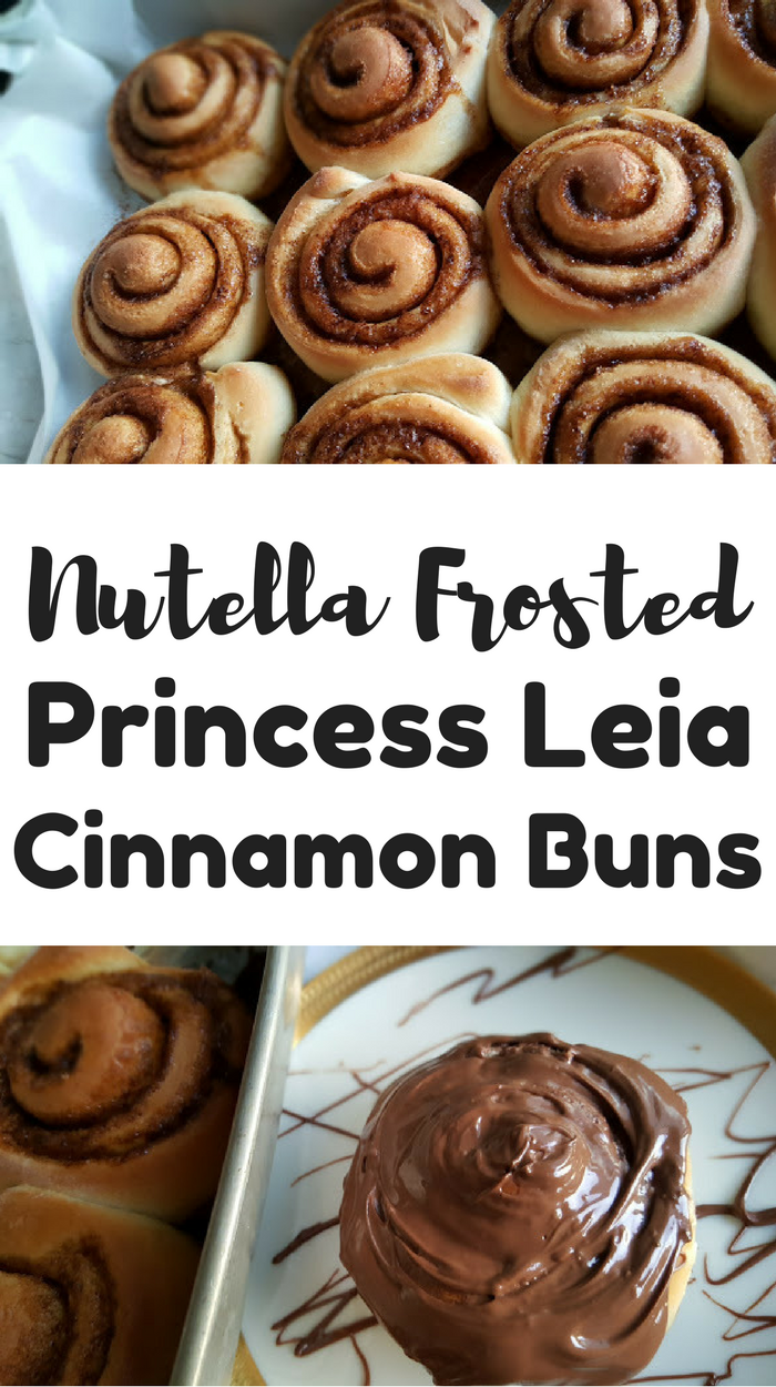 Nutella Frosted Princess Leia Cinnamon Buns for breakfast or dessert