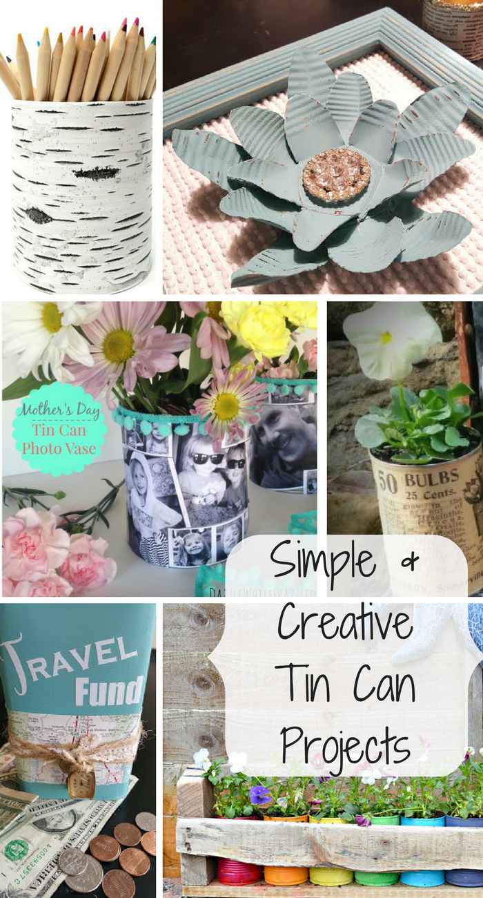 The ultimate in recycling are these simple and creative tin can projects that anyone can make.