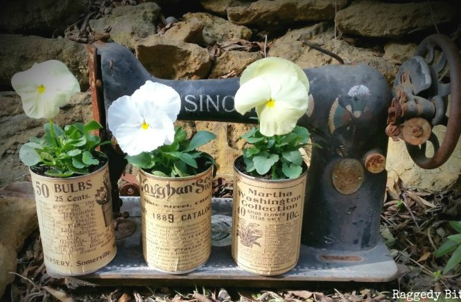 Tin Can Projects Planter from Raggedy Bits