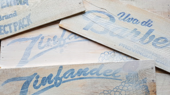 White washed scraps for wooden farmhouse table runner