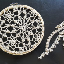 bohemian dream catcher with lace used for tails