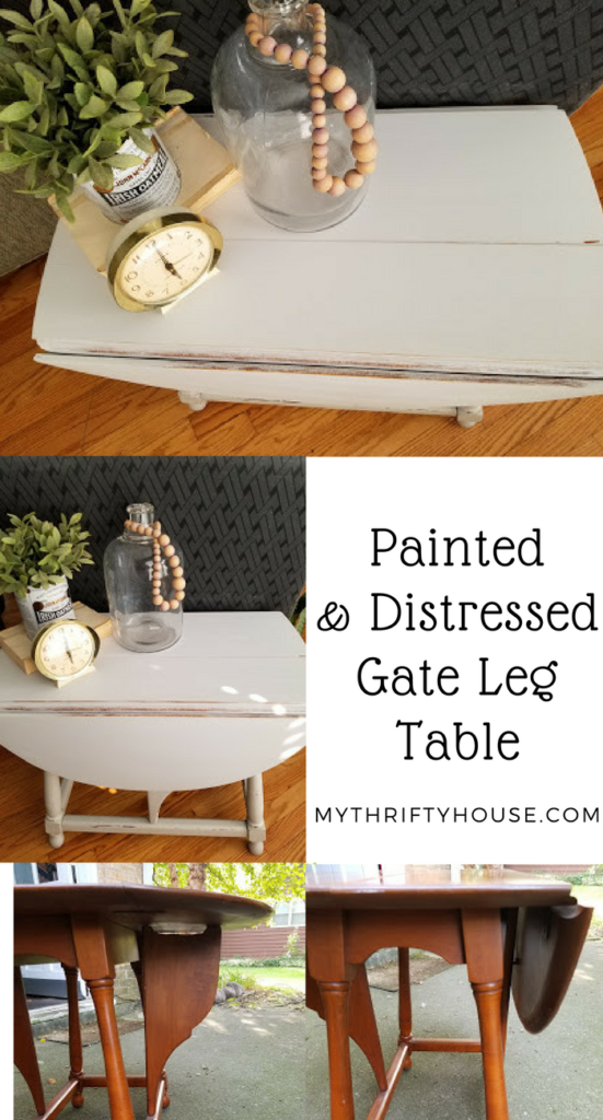 Painted & Distressed Gate Leg Table