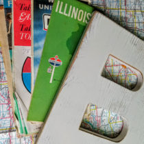 supplies needed for vintage map letter
