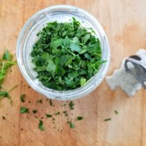 blending whole30 creamy cilantro salad dressing