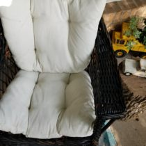 Wicker Rocker Makeover After Painted Cushions
