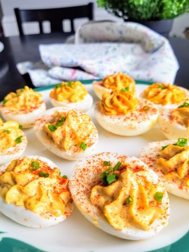 Amazing Whole30 Spicy Chipotle Deviled Eggs