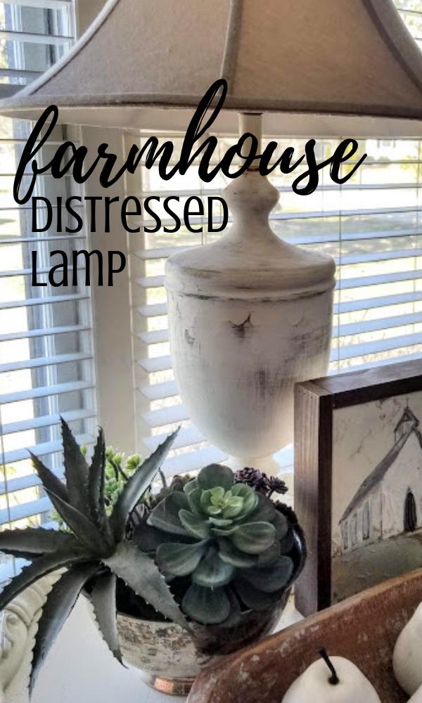 DIY distressed farmhouse lamp
