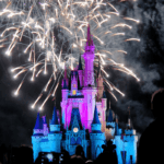 Fireworks over Cinderella's Catle