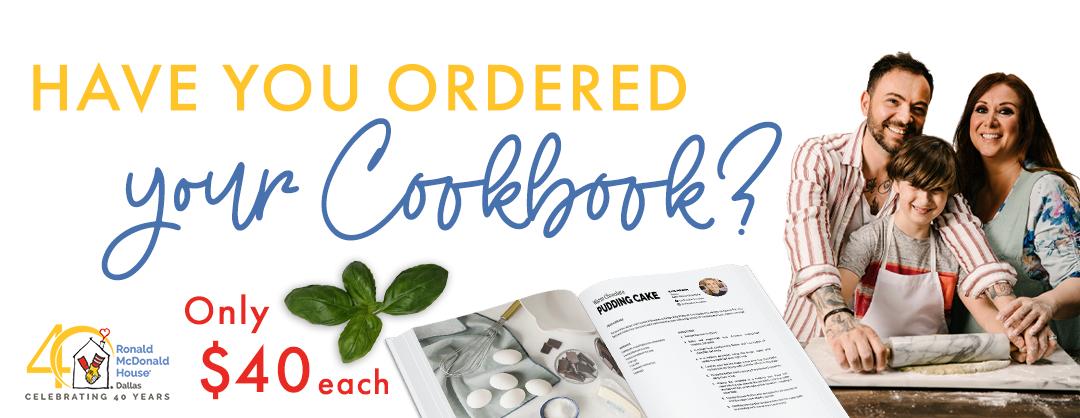 Cookbook Order website header