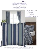 Best Aqua Blue & Silver Stripe