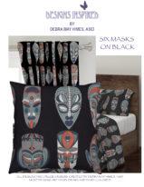 6 Masks on Black