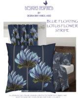 BLUE LOTUS FLOWER STRIPE
