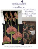 TIGER ORANGE LOTUS FLOWER STRIPE