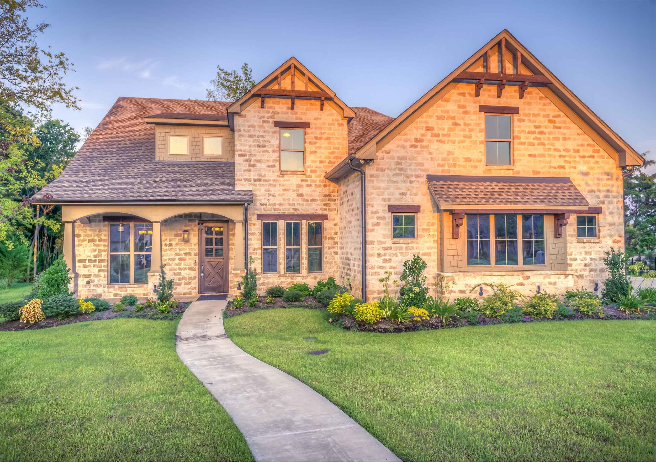 photo of brick house