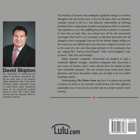 The Claim Game by Public Adjuster David Skipton