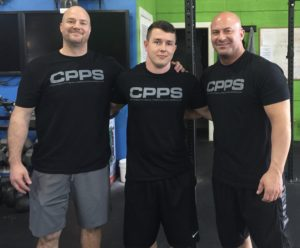"Jim ""Smitty"" Smith (left) and Joe DeFranco (right) with me at the CPPS."