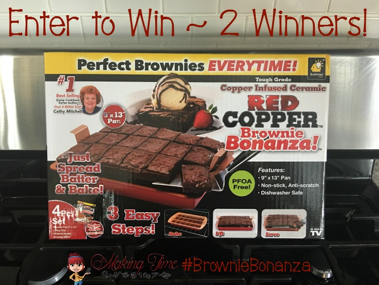 Enter this giveaway and try your luck at winning a Red Copper Brownie Bonanza from BulbHead! Two entrants will win! #entertowin #BulbHead #RedCopper #BrownieBonanza #giveaway