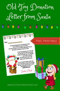 Free Printable Old Toy Donation Letter from Santa
