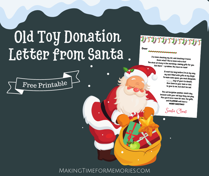 Old Toy Donation Letter from Santa