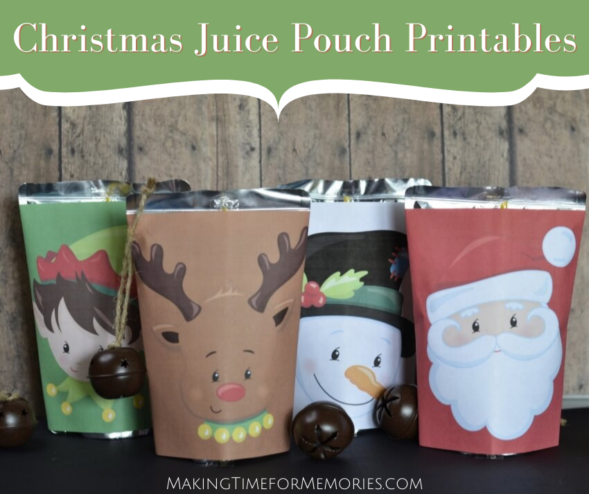 Christmas Juice Pouch Printables