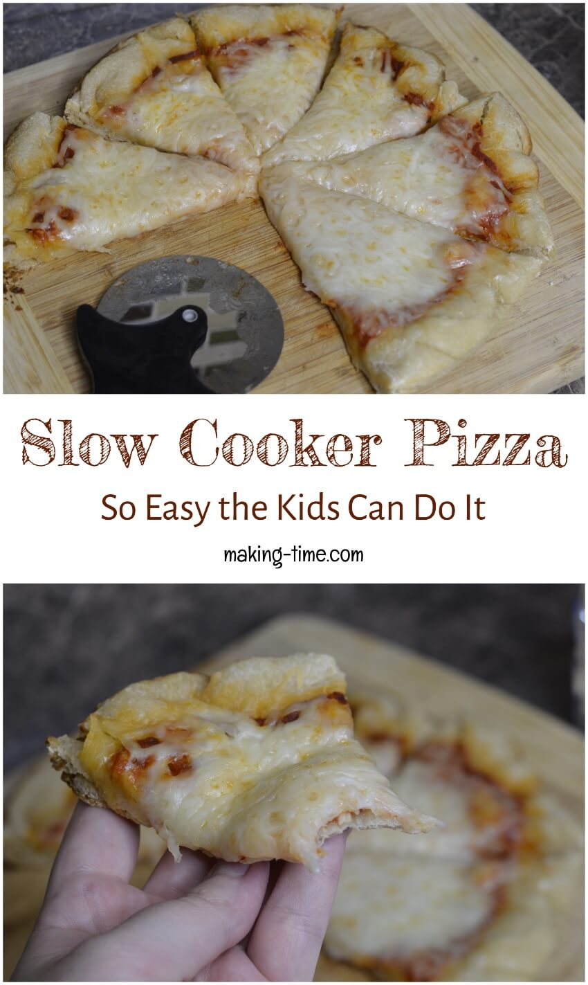 Slow Cooker Pizza: So Easy the Kids Can Do It | #slowcooker #recipe #pizza #kidsinthekitchen