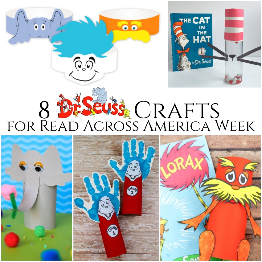 8 Dr. Seuss Crafts for Read Across America Week ~ #ReadAcrossAmerica #craftsforkids #DrSeuss