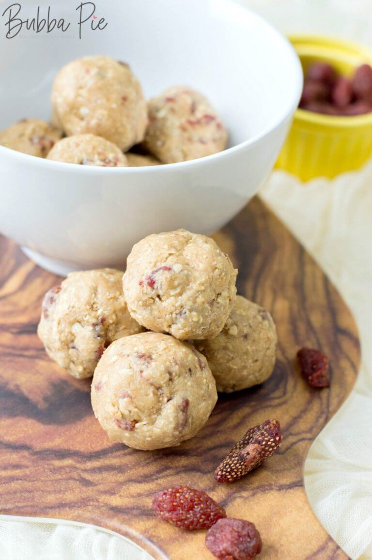 Strawberry Energy Balls by Bubba Pie