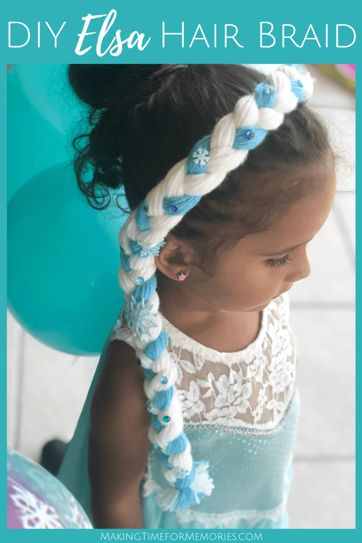 Disney's Frozen Party Ideas + DIY Elsa Hair Braid ~ #Frozen #Disney #DIY #Elsa #partyideas