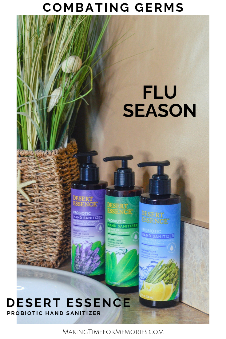 Combating Germs During Flu Season with Desert Essence ~ #ad #MomsMeet #DesertEssence #DEProbioticPower #fluseason