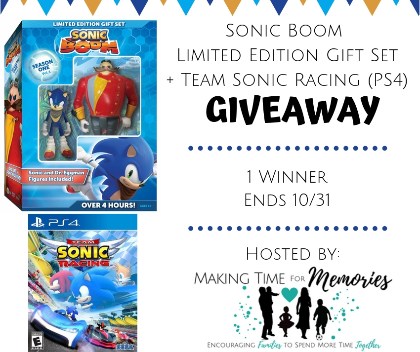 Sonic Boom Limited Edition Gift Set + Team Sonic Racing PS4 Game Giveaway #SonictheHedgehog