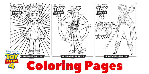 Free Printable Toy Story 4 Coloring Pages by Living in Happy Place
