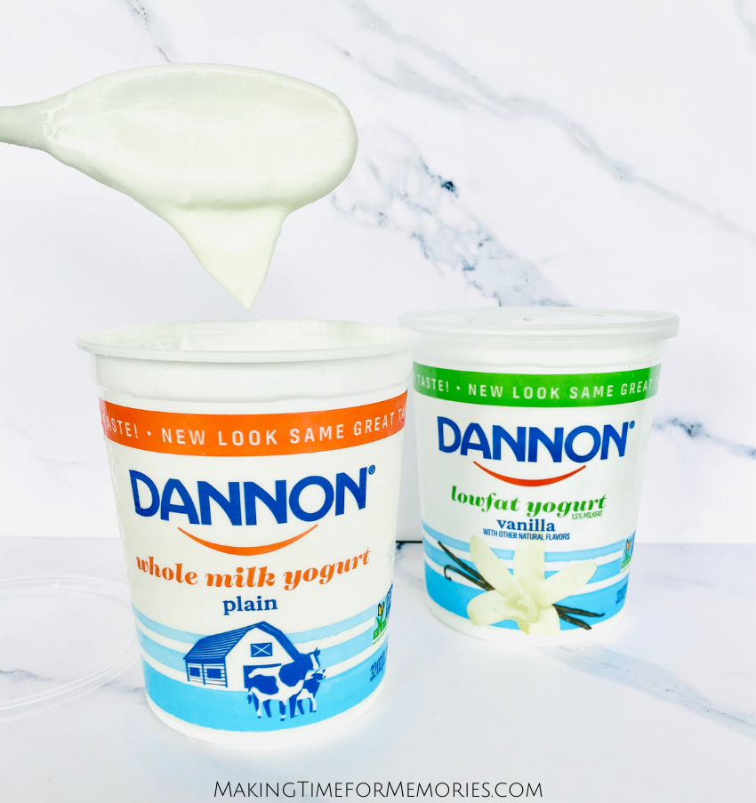 Dannon Whole Milk Plain Yogurt adds a touch of lightness to the slaw in this recipe, without making it too heavy or overly creamy.