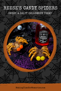 Reese's Candy Spiders, a Sweet & Salty Halloween Treat