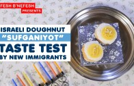 New Israeli Immigrants try Crazy Israeli Doughnuts for the First Time