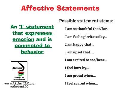 Restorative Practices Affective Statement Cards