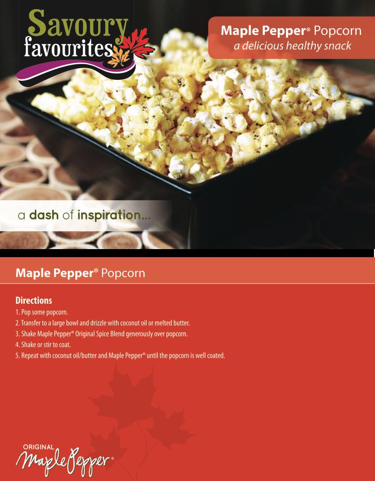 Maple Pepper Popcorn Recipe