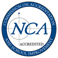 NCA Accredited Logo - Commission on Accreditation & School Improvement