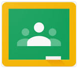 Google Classroom icon - 3 illustrations of people with an orange border