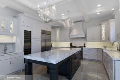 white_kitchen_cabinets_dark_grey_island