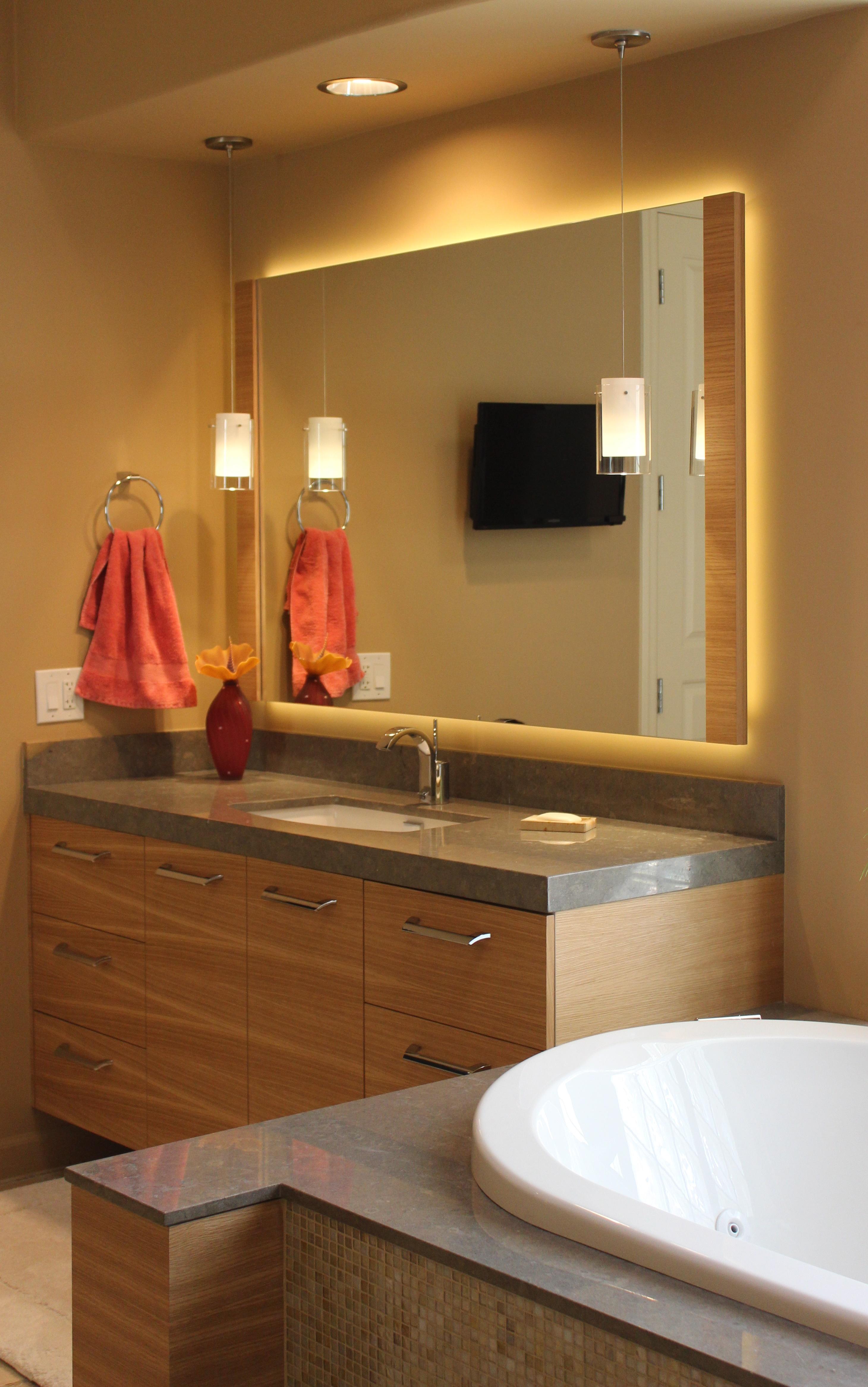 Veneer, Powder room, bath, vanity, bath vanity, modern powder room,