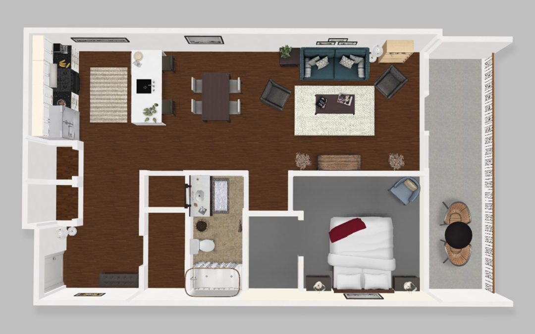 Unit A – One Bedroom