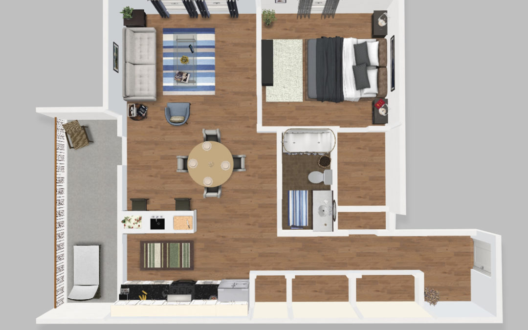 Unit B – One Bedroom